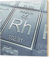 Rhodium Chemical Element Wood Print
