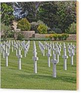 Rhone American Cemetery Wood Print