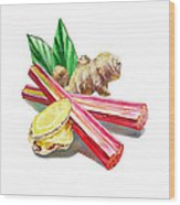 Rhubarb And Ginger Wood Print