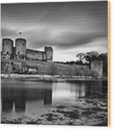 Rhuddlan Castle Wood Print