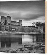 Rhuddlan Castle Wood Print by Dave Bowman
