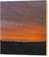 Rhymney Valley Sunrise Panorama Wood Print