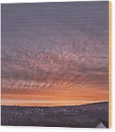 Rhymney Valley Sunrise Wood Print