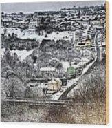 Rhymney Valley Winter 2 Wood Print