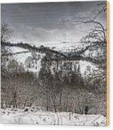 Rhymney Valley Winter 5 Wood Print