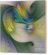 Rhythm Of Life-abstract Fractal Art Wood Print