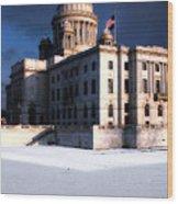 Ri State Capitol 1 Wood Print