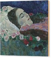 Ria Munk On Her Deathbed Wood Print