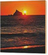 Rialto Beach Sunset Wood Print