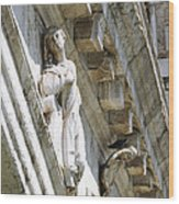 Rialto Bridge Angel Wood Print