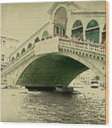 Rialto Bridge Wood Print
