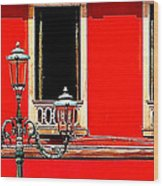Rialto Red Wood Print