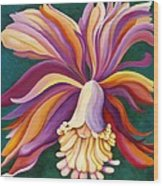 Ribbon Orchid Wood Print