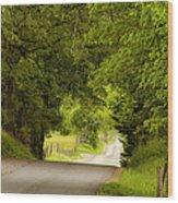 Ribbon Road Wood Print
