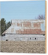 Ribbon Roof Barn Wood Print