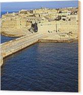Ricasoli Breakwater At Valletta's Grand Harbor Wood Print