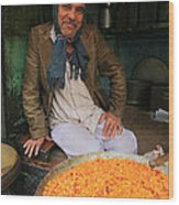 Rice And Bean Seller Wood Print