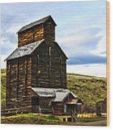 Rice Elevator 1916 Wood Print by Steve McKinzie