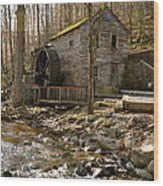 Rice Grist Mill And Threshing Barn  Wood Print