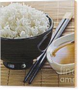 Rice Meal Wood Print by Elena Elisseeva