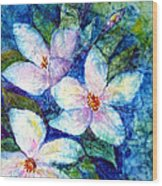 Ricepaper Blooms Wood Print