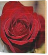 Rich Redness Wood Print