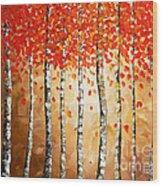 Rich Trees Wood Print