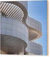 Richard Meier's Getty Architecture I Wood Print