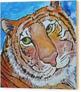Richard Parker Wood Print by Debi Starr