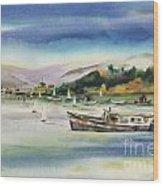 Richardson Bay Marin Wood Print