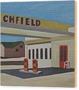 Richfield Gas Station Wood Print