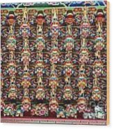 Richly Decorated Temple Ceiling Wood Print