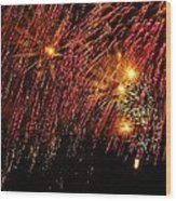 Richmond Fireworks Wood Print