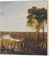 Richmond Hill On The Prince Regent's Birthday Wood Print