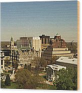 Richmond Virginia - Old And New Capitol Buildings Wood Print