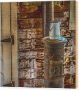 Richmond Wood Stove Wood Print