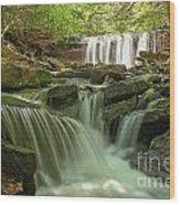 Ricketts Glen Waterfall Cascades Wood Print