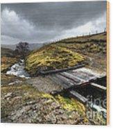 Rickety Bridge On Honiston Pass  Wood Print