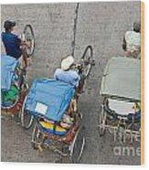 Rickshaw Driver - Bangkok Wood Print