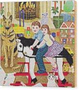 Ride-a-cock-horse Wood Print