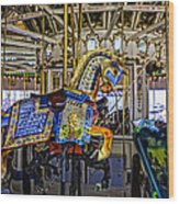 Ride A Painted Pony - Coney Island 2013 - Brooklyn - New York Wood Print