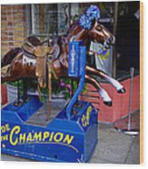 Ride The Champion Wood Print by Garry Gay