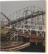 Ride The Roller Coaster Wood Print