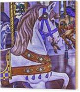 Ride The White Horse Wood Print