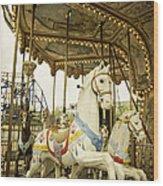 Ride The Wild Pony Wood Print