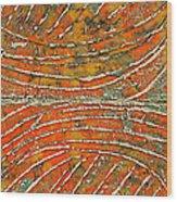 Ridges Encaustic Wood Print