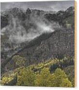 Ridges Of Fire Wood Print