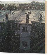 Ridgewood Houses Wet With Rain Wood Print by Mieczyslaw Rudek Mietko