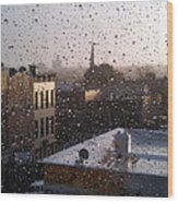 Ridgewood Wet With Rain Wood Print by Mieczyslaw Rudek Mietko