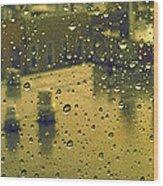 Ridgewood Wet With Rain St Matthias Roman Catholic Church Wood Print